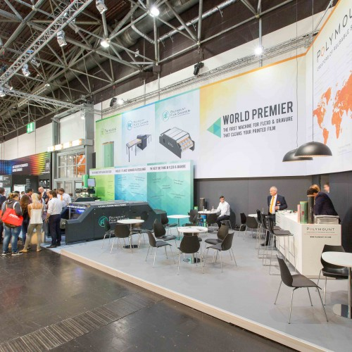 Beursstand Polymount International Drupa 2016